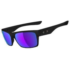 Oakley Twoface Sunglasses - Matte Black ~ Violet Iridium