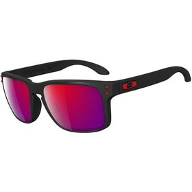 Oakley Holbrook Zonnebril - Matte Black ~ Positive Red Iridium