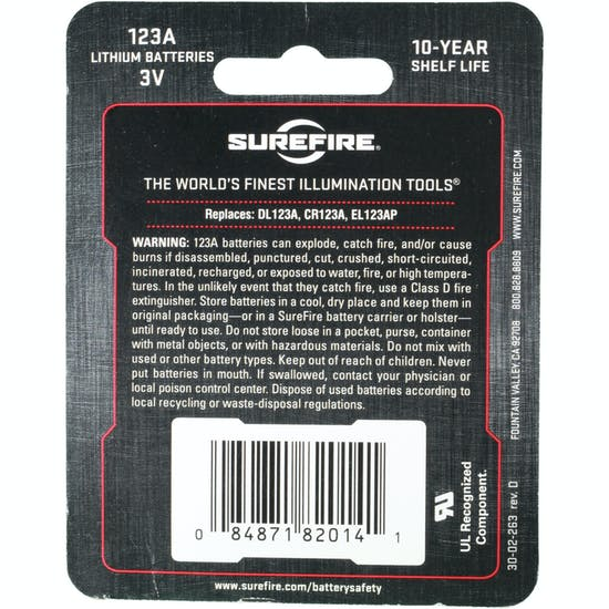 Surefire Battery 123A 3 Volt Lithium Batterier
