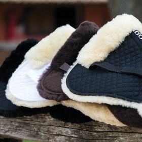 Rambo Sheepskin Half Pad - Brown Brown