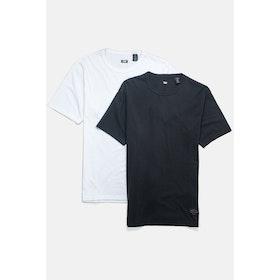 Levi's Skate 2 Pack S S T-Shirt - White Jet Black