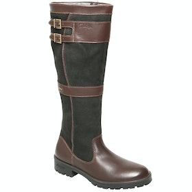 Dubarry Longford Ladies Country Boots - Black Brown