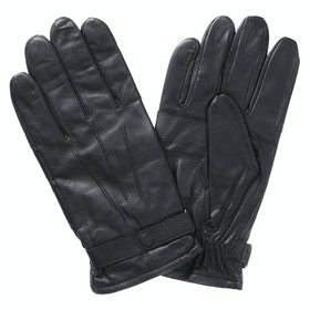 Barbour Burnished Leather Insulated Mens Gloves - Black