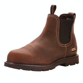 Ariat Groundbreaker H2O Steel Toe Mens Safety Boots - Dark Brown