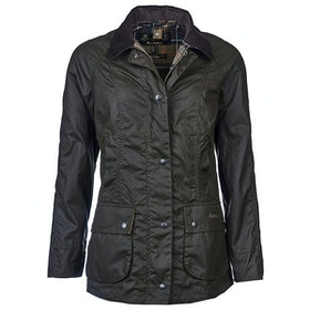 Barbour Classic Beadnell Ladies Wax Jacket - Olive