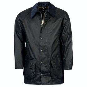 Barbour Beaufort Mens Wax Jacket - Navy