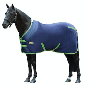 Weatherbeeta Fleece Standard Neck Cooler Rug - Navy Lime