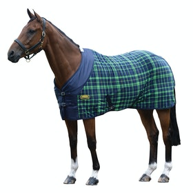 Weatherbeeta Fleece Standard Neck Cooler Rug - Navy Lime Plaid