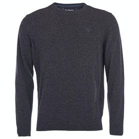Barbour Essential Lambswool Crew Mens Sweater - Charcoal