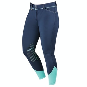 Dublin Thermal Gel Knee Patch Ladies Riding Breeches - Navy Mint