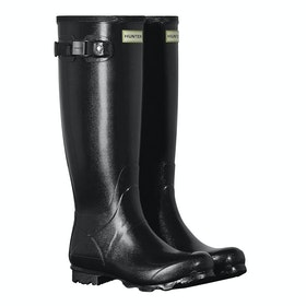 Hunter Norris Field Gloss Ladies Wellingtons - Black