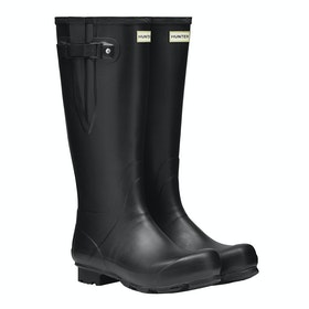 Hunter Norris Field Side Adjustable Mens Wellingtons - Black