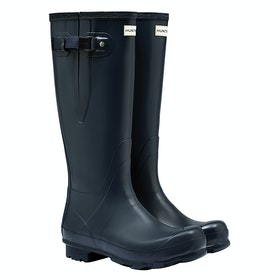 Hunter Norris Field Side Adjustable Mens Wellington Boots - Navy