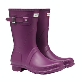 Hunter Original Short Ladies Wellies - Violet