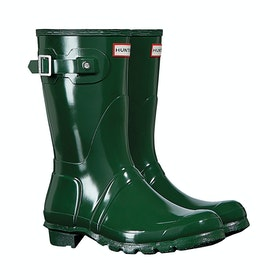 Hunter Original Short Gloss Ladies Wellington Boots - Hunter Green