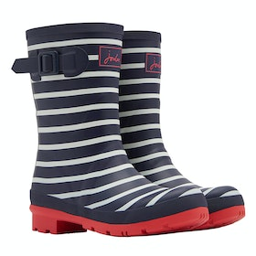 Joules Molly Ladies Wellington Boots - French Navy Stripe