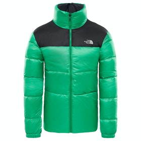 North Face Nuptse III Donsjas - Primary Green TNF Black