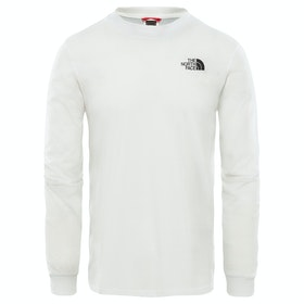 North Face Simple Dome T-Shirt Lange Mouwen - TNF White
