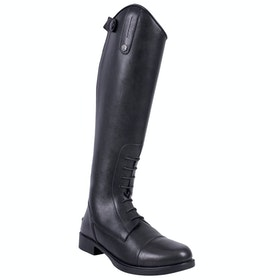 QHP Julia Junior Kids Long Riding Boots - Black