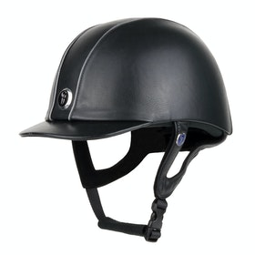 Gatehouse Jeunesse Leather Riding Hat - Black