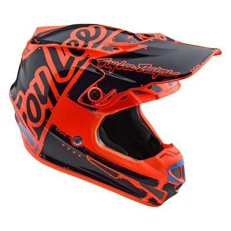Casque MX Troy Lee SE4 Polyacrylite MIPS Factory