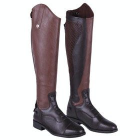 QHP Nina Wide Ladies Long Riding Boots - Brown