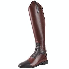 QHP Verena Wide Ladies Long Riding Boots - Dark Brown