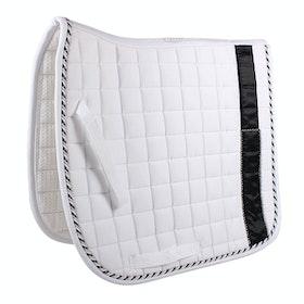QHP Chique Saddlepads - White Black