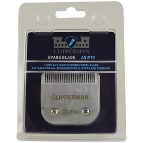 Clipperman A5 10 German Steel Standard Blade Set Clipper Blade - Silver