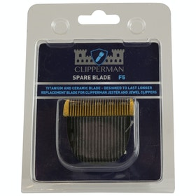 Clipperman Jester F5 Titanium & Ceramic Blade Set Clipper Blade - Silver