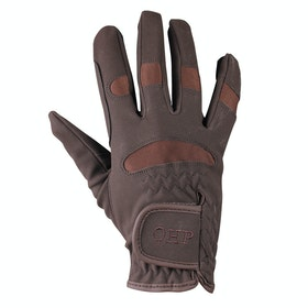 QHP Junior Multi Riding Gloves - Brown