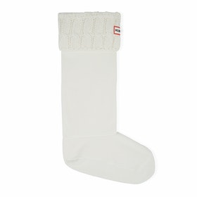 Hunter Stitch Cable Boot , Wellingtons Socks - Natural White