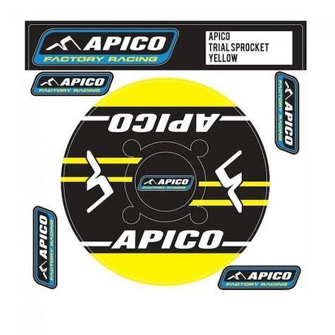 Apico Trials Rear Sprocket Sticker 46T Decal Sheet