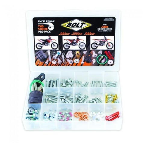 Bolt Hardware Euro Style 2T Pro Pack Fastener Kit SX EXC 200300 00 Bike Specific Bolt Pack