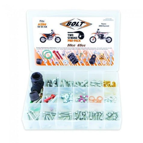 Bolt Hardware Euro Style 2T Pro Pack Fastener Kit SX5065 02 Bike Specific Bolt Pack