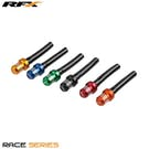 RFX Race Series Vent Tube Shorty Inc 1 Way Cap Fuel Vent Tubes