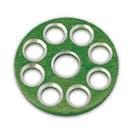 Bolt Hardware Factory Tank Washer Green MX Bike Bling