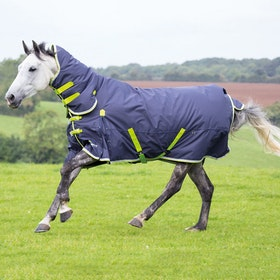 Shires Highlander Original 200g Combo Turnout Rug - Charcoal Grey Lime