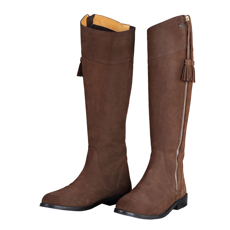 Sporen Stiefel Schutz, Leder, schwarz: : Haustier