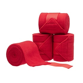 Derby House Pro Pack of 4 Fleece Polo Bandage - Red