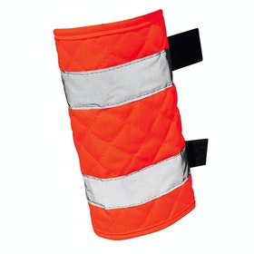 Protectores reflectantes Equisafety Quilted Leg - Red Orange