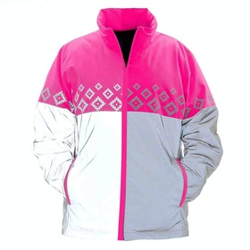 Chaqueta reflectante Equisafety Luminosa Reversible - Pink