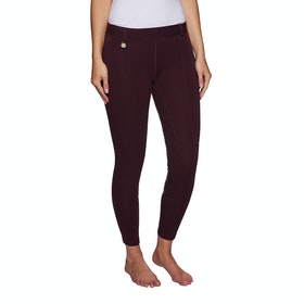 Derby House Pro Gel Ladies Riding Tights - Merlot