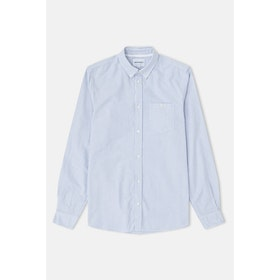 Norse Projects Anton Oxford L S Shirt - Blue Stripe