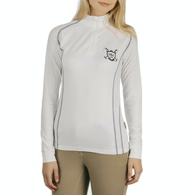 Horseware Elena Long Sleeve Tech Damen Top - White