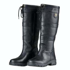 Dublin River Grain Ladies Country Boots - Black
