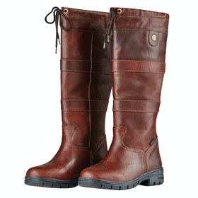 Dublin River Grain Ladies Country Boots - Red Brown