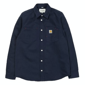 Chemise Carhartt Tony - Dark Navy Rigid