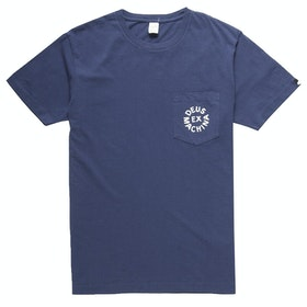 Deus Ex Machina Deus Logo T Shirt - Navy