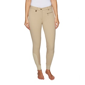 Derby House Pro Gel Knee Patch Ladies Riding Breeches - Beige